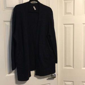 GAP Cotton/Wool Blend Navy/Black Cardigan M
